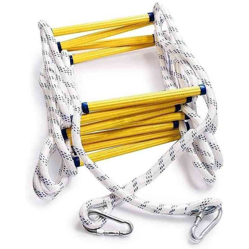 Flexible Insulated Rescue Rock Climbing Anti-skid Engineering Rope Ladder