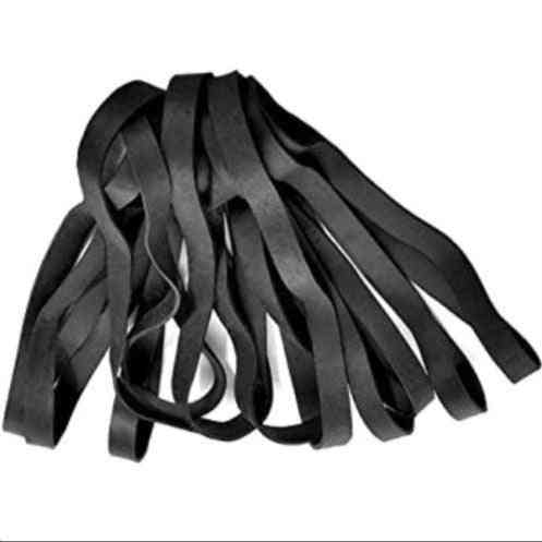 Solid Black Industrial Elastic Heavy Duty Rubber Bands