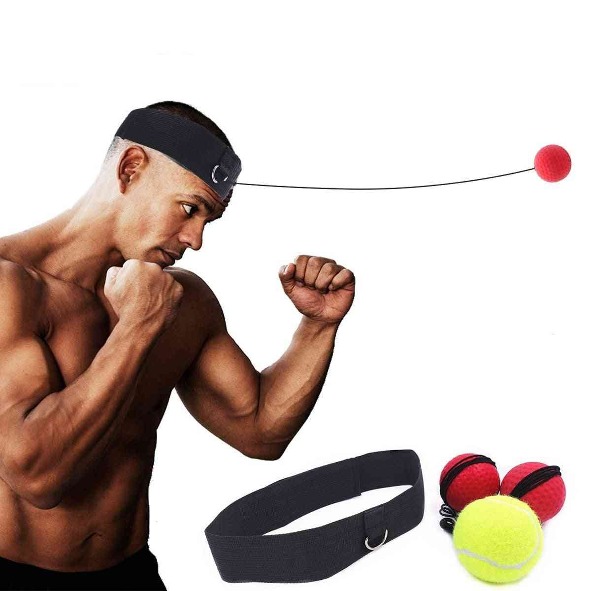 Punching Speed Reaction Agility Training Difficulty Level Boxing Balls With Adjustable Headband