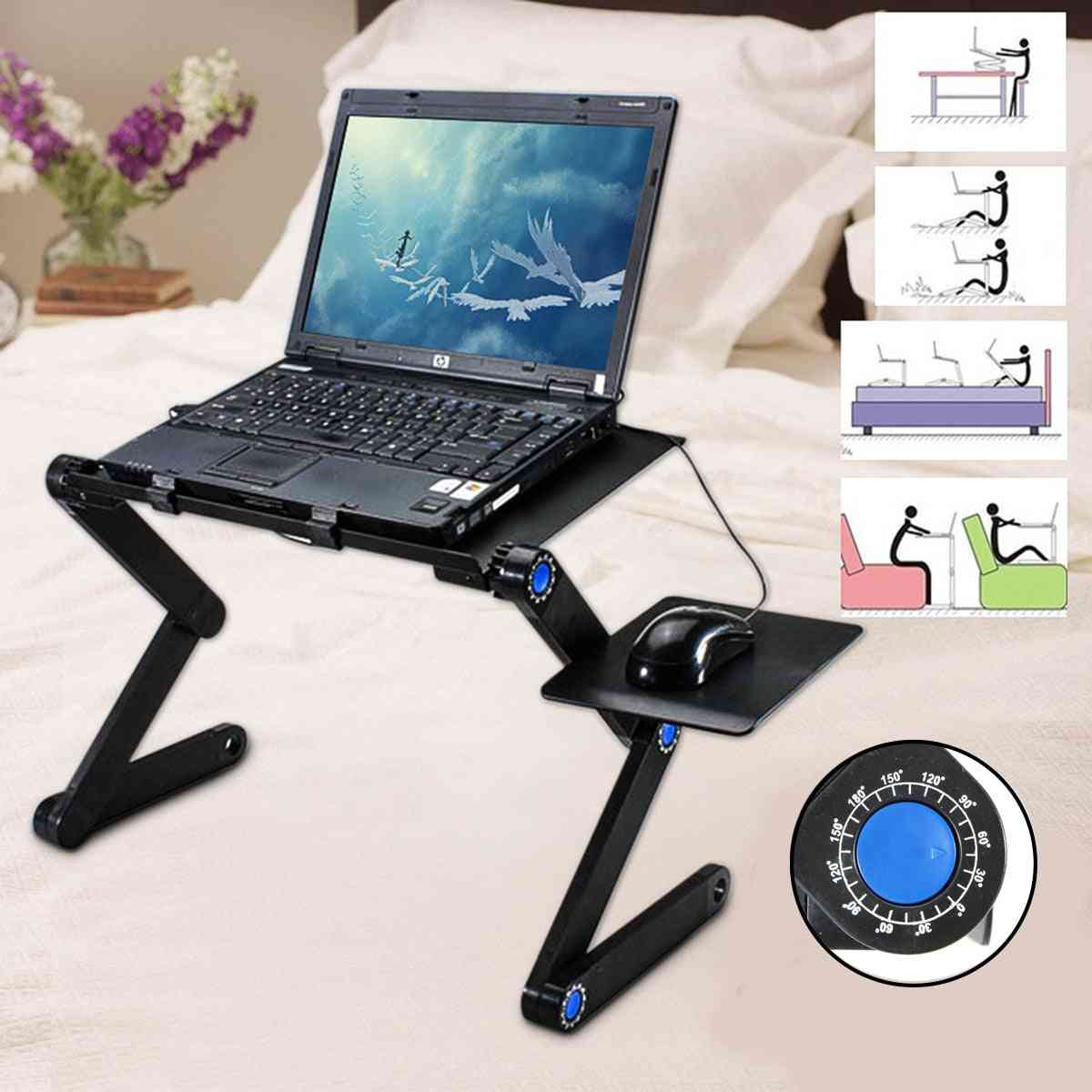 360 Degree Foldable Adjustable Laptop Desk Table Stand Holder