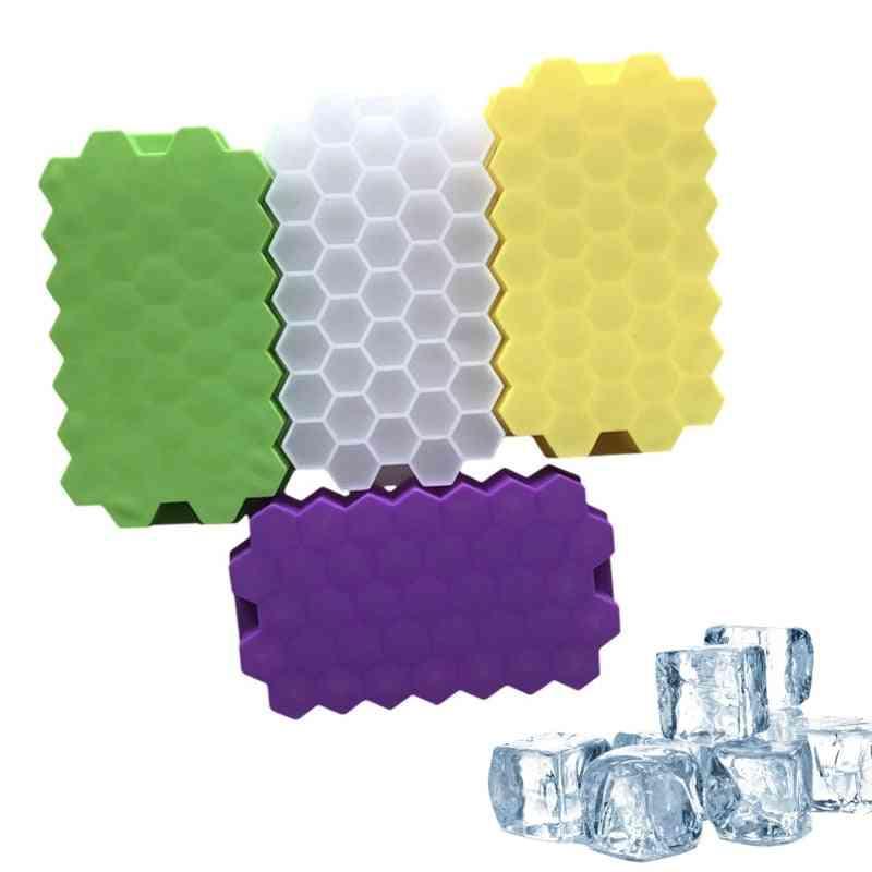 37-grids Honeycomb, Mini Ice Maker, Cube Cavity, Silicone Tray