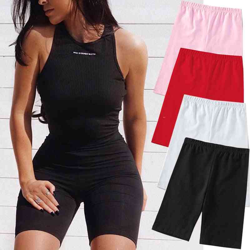 Summer Casual, Fitness Korean, Athleisure Cycling Shorts