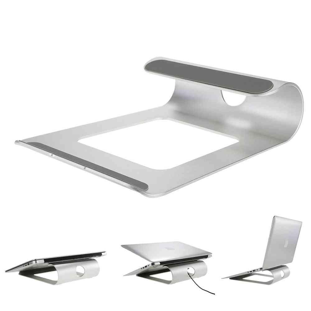 Aluminum Alloy- Laptop Holder Bracket, Stand Desk Dock (silver  Color)