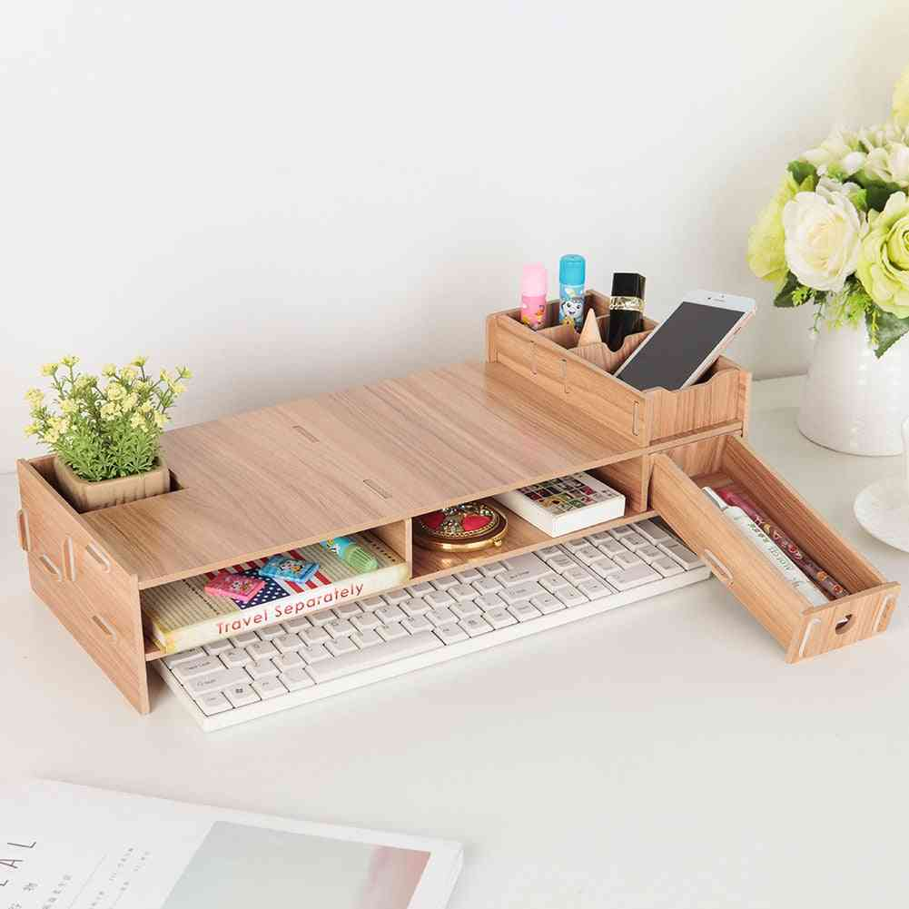 Wooden Riser Stands For Lcd Desktop, Pc & Monitor