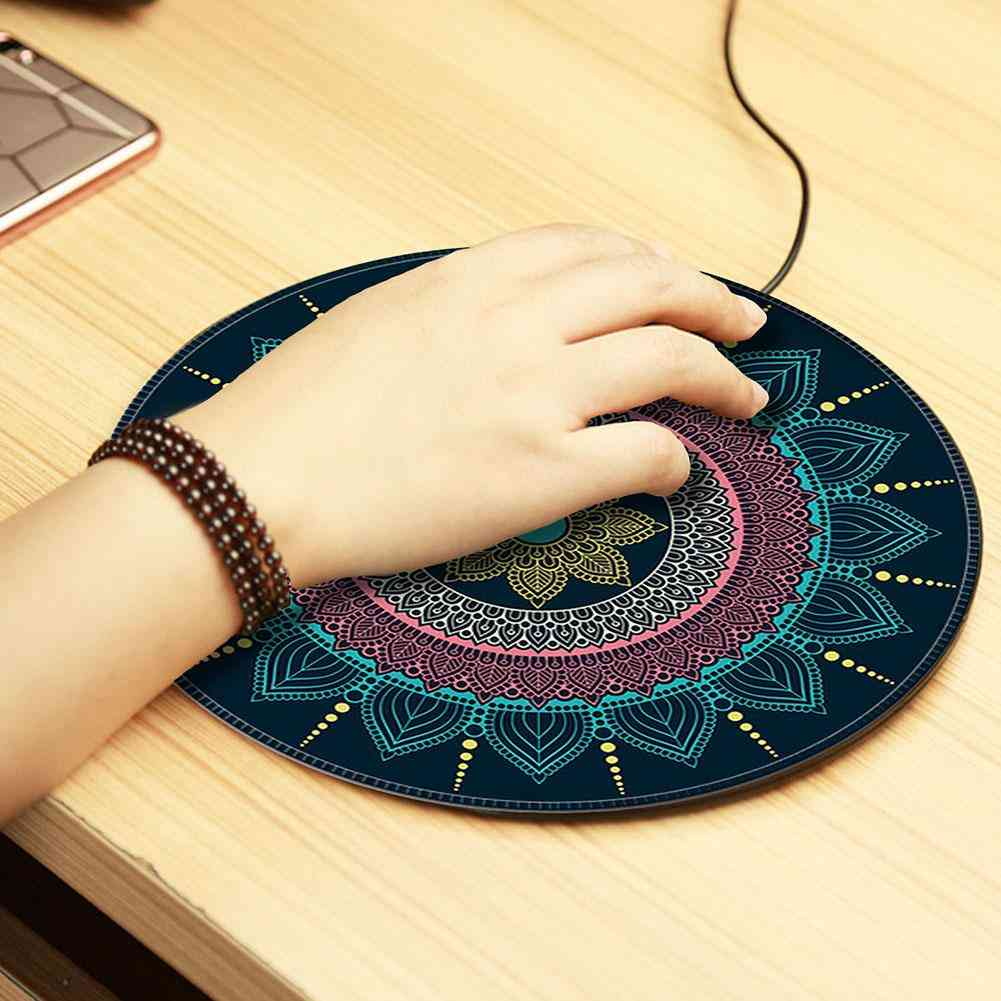 Round Mouse Pad / Mat, Anti Slip For Computer Laptop