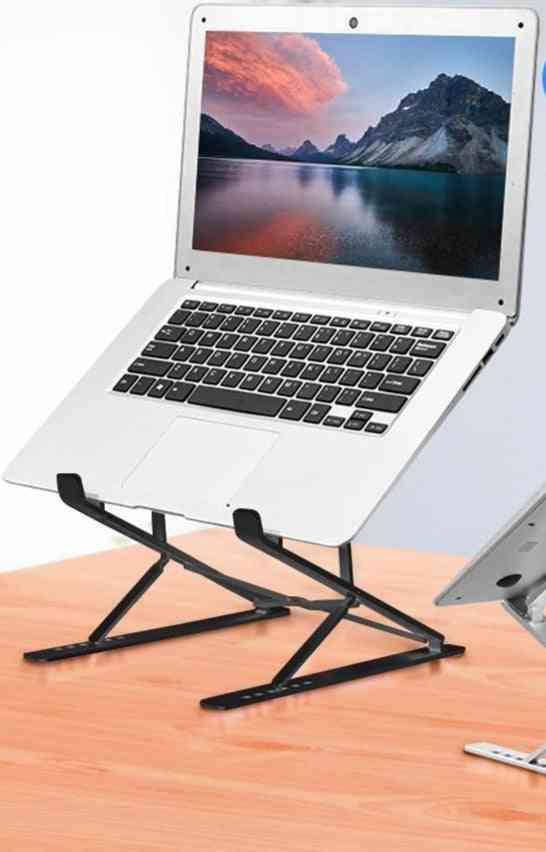 Portable Foldable, Laptop Stand Adjustable, Cooling Pad Holder