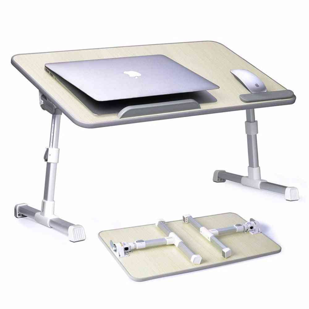 Laptop Bed Table Desk, Portable Standing Foldable Breakfast Tray