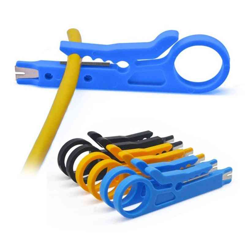 Portable Stripper, Knife Crimper Pliers For Cable Stripping, Wire Cutter, Cut Line Tool