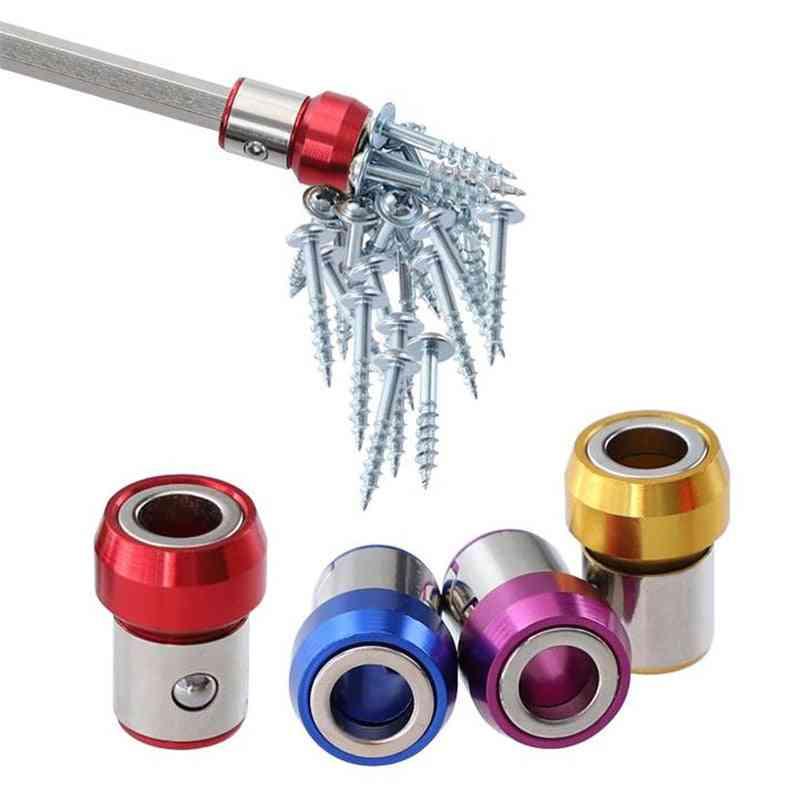 6.35mm Screwdriver Bit, Magnetic Ring Metal, Anti-corrosion Magnetizer Screws