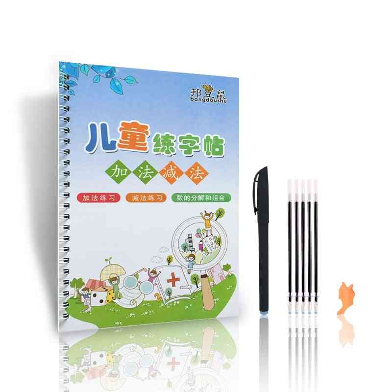 Educational Learning Arithmetic Math Writing 3d Exercise Reusable Copybook