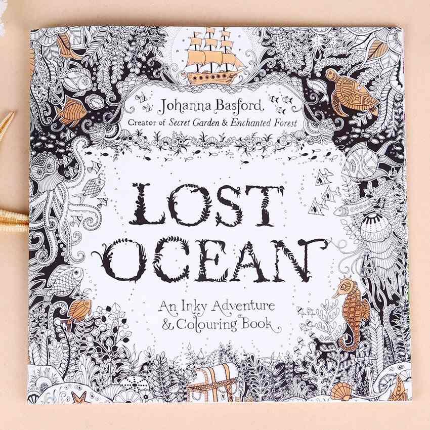 Lost Ocean English Edition Inky Coloring Book