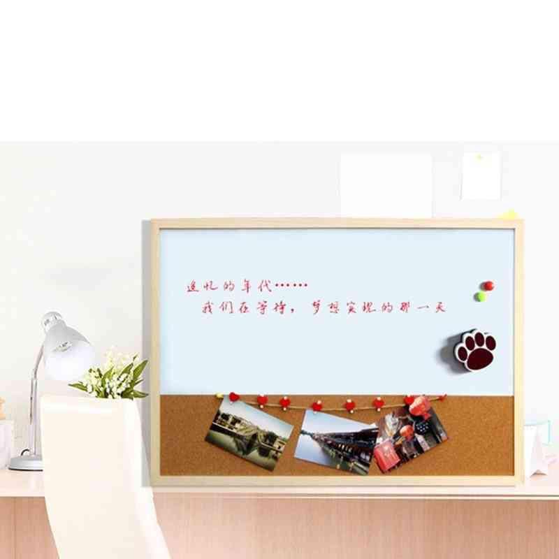 Combination Wood Frame Magnetic Whiteboard