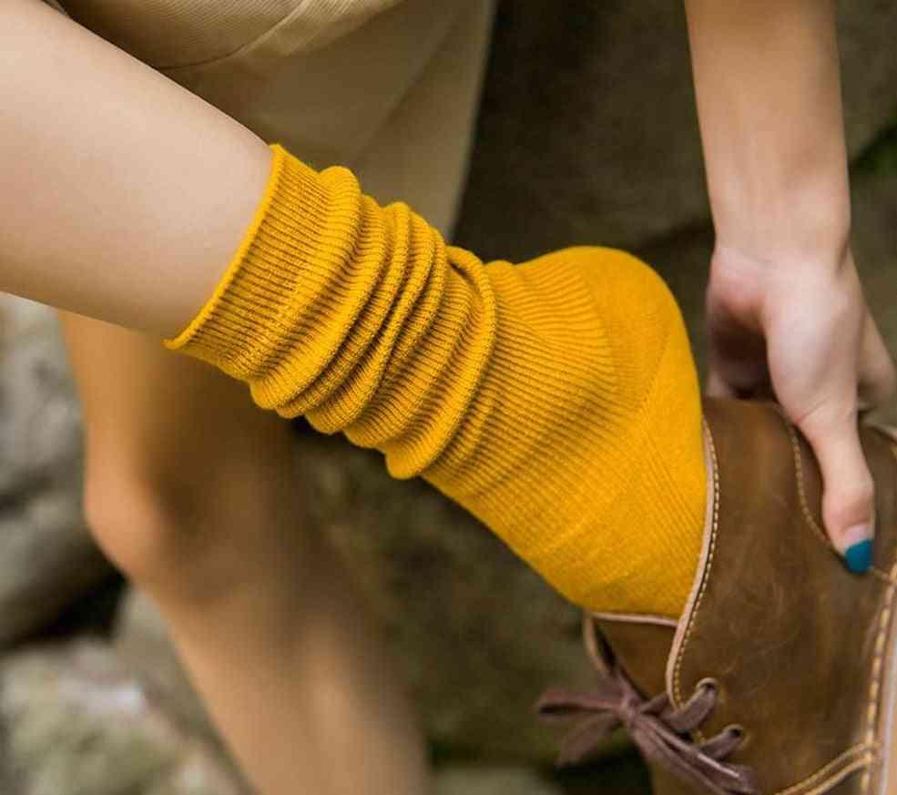 High School Socks, Loose, Double Needles Knitting Cotton