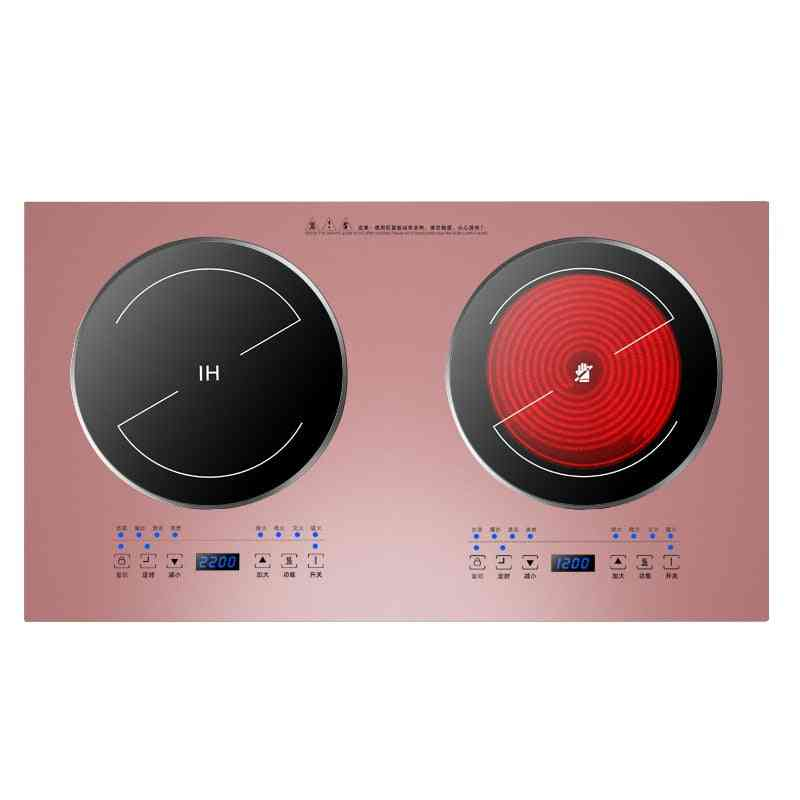 Double-oven Head, Furnace Inlaid, Induction Cooker