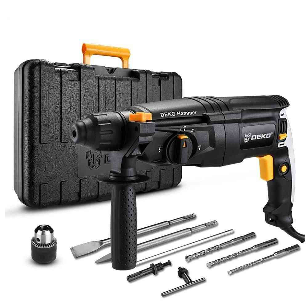 Electric Rotary Hammer, Four-functions With Bmc Box, Impact Power, Drill Accessories