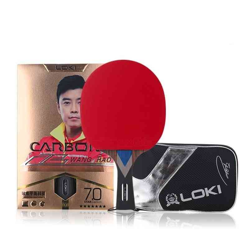 Carbon Tube Tech Ping Pong Paddle Table Tennis Racket