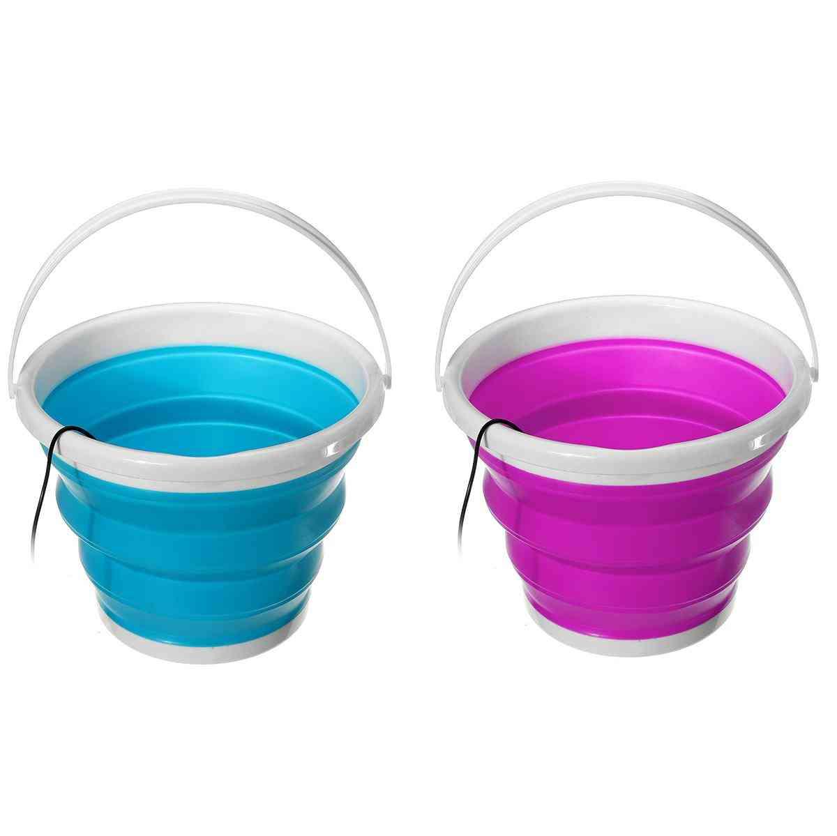 100-240v Mini Ultrasonic Washing Machine Foldable Bucket Type Usb Laundry Clothes Washer Cleaner