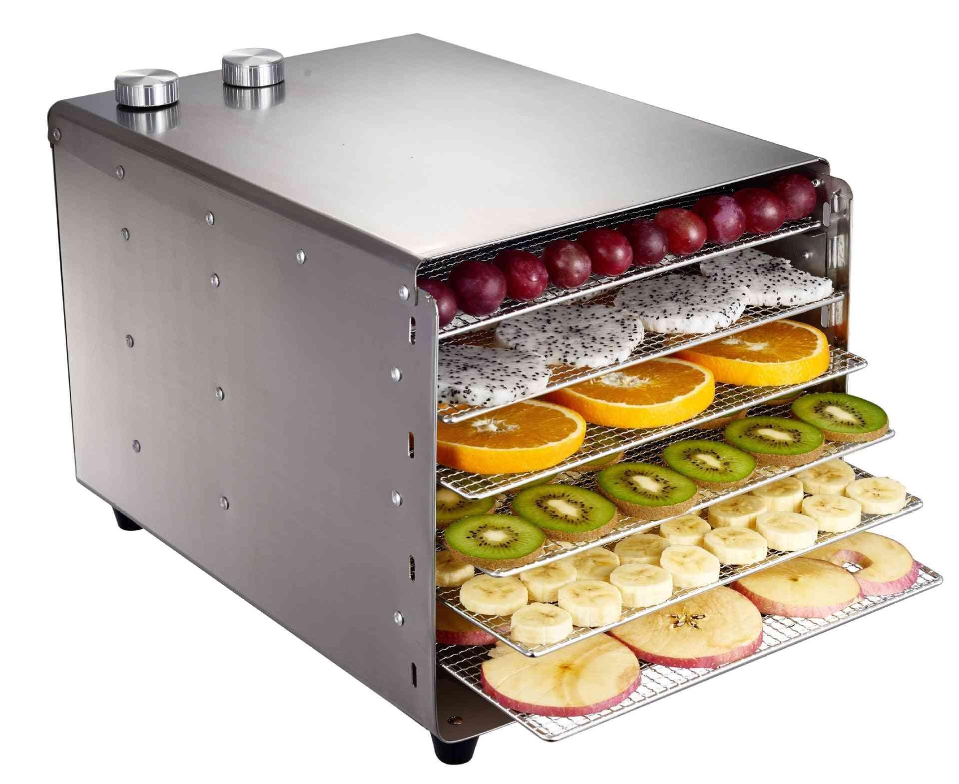 Stainless Steel Food Dehydrator For Mushroom, Fruit & Vegetable Dryer Meat Machine