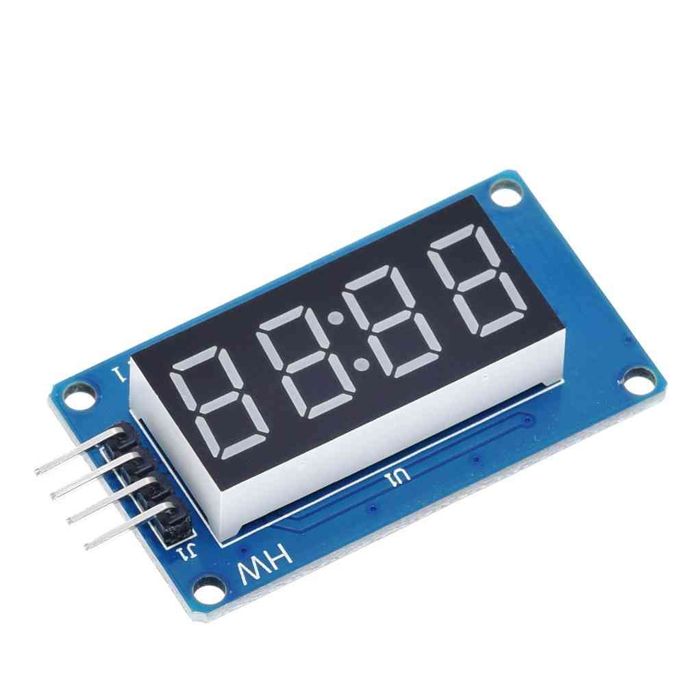 Led Display Module For Arduino 7 Segment 4 Bits 0.36inch Clock Red Anode Digital Tube