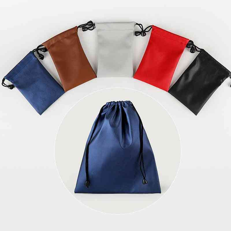 Pu Leather- Jewelry Drawstring Pouch, Dust Bags