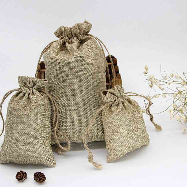 Natural Reusable, Drawstring Travel, Bundle Pockets Luggage, Jewelry Bags