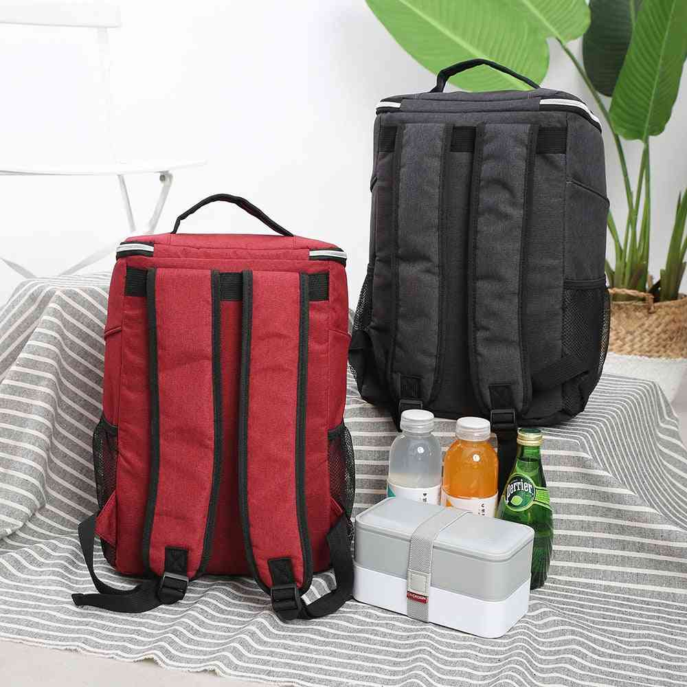 20l- Thicken Waterproof Cooler, Thermal Insulated, Backpack Style, Ice Bag