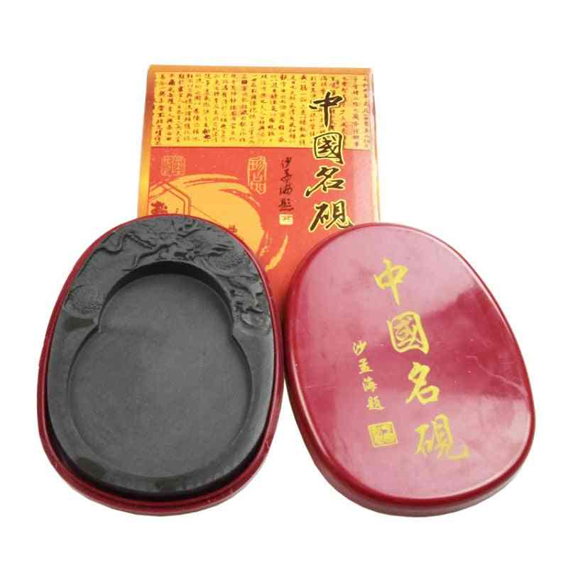 Chinese Calligraphy 5-8 Inch Natural Rock Inkstone For Painting