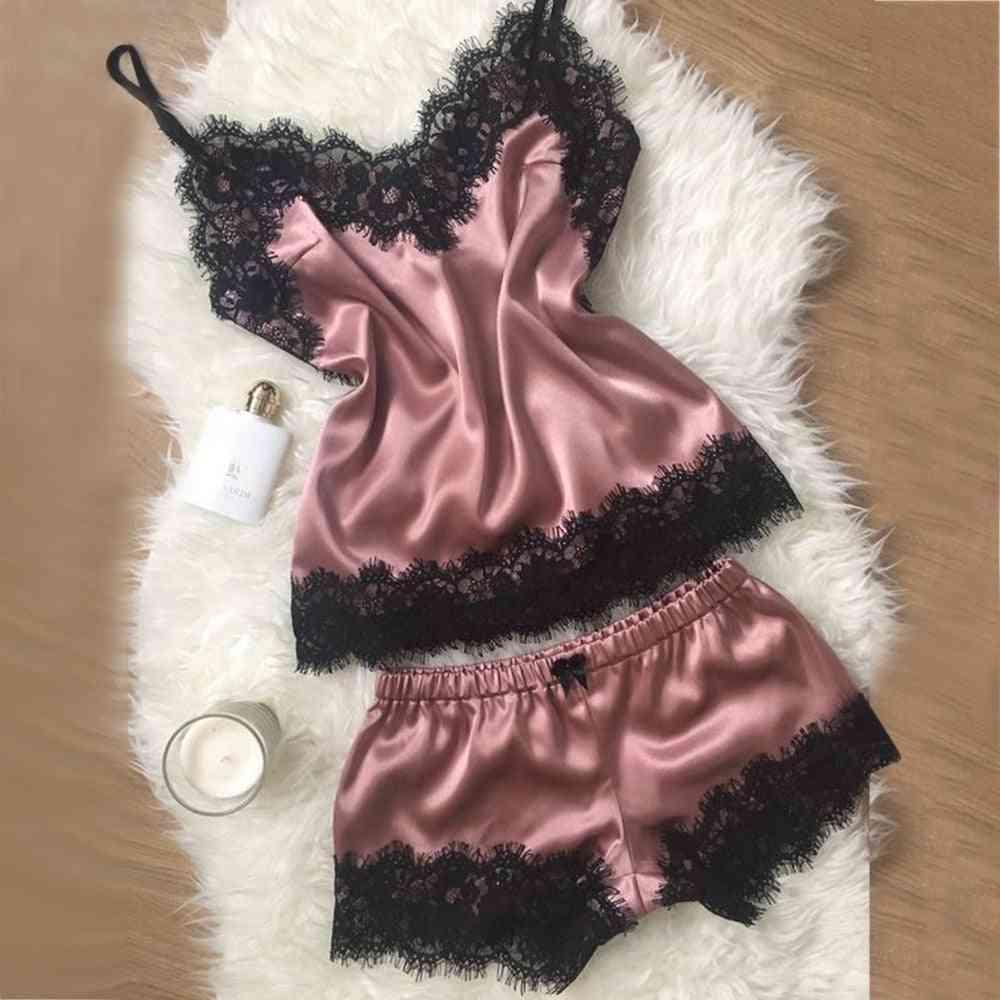 Silk Satin Nightwear Loose Lace Sleepwear Robe Nightgowns / Sleepshirts