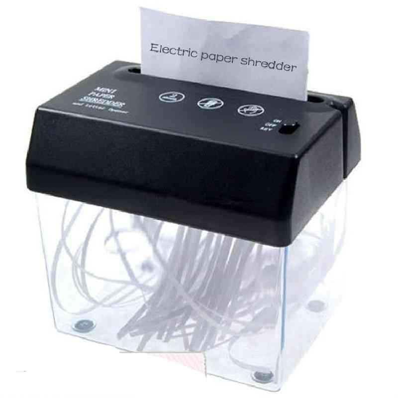 A4 & A5- Folded Paper, Strip-cut Mini Usb Shredder & Letter Opener For Home/ Office