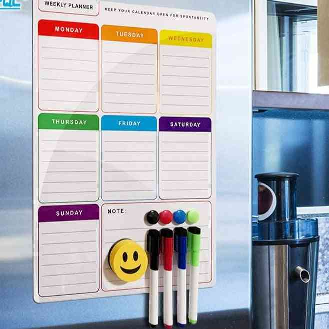 Flexible A3 Magnetic White /weekly Plan Message Board