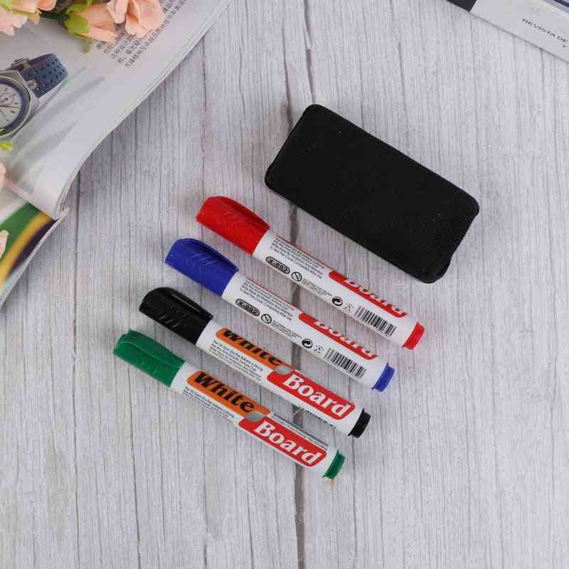 Colorful Whiteboard Pen Set With Built In Eraser