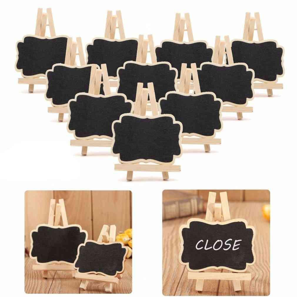 Mini Wooden Blackboard, Chalkboard Stand Wedding Party Table Decor