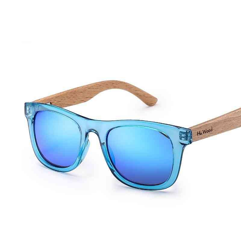 Multicolor Frame Wooden Sunglasses For Child