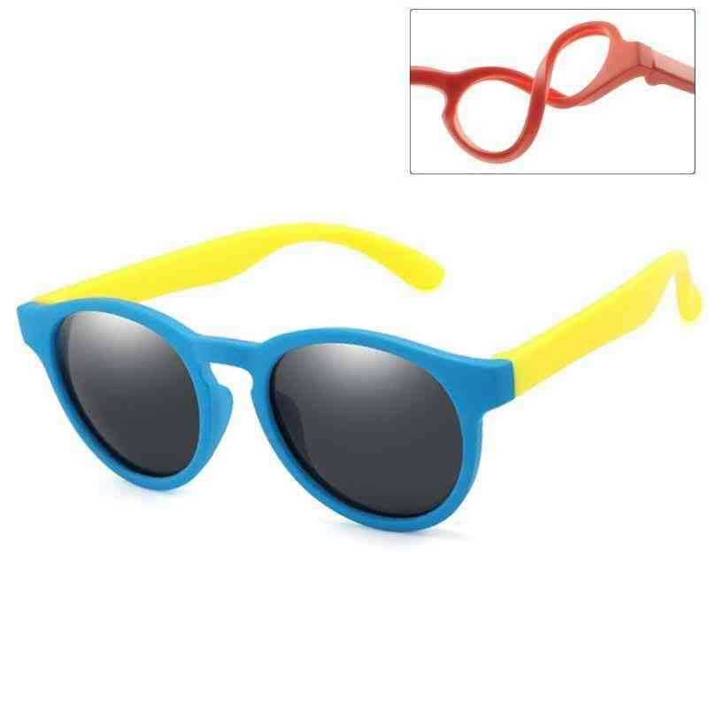 New Polarized Round Sunglasses Girl Safety Glasses