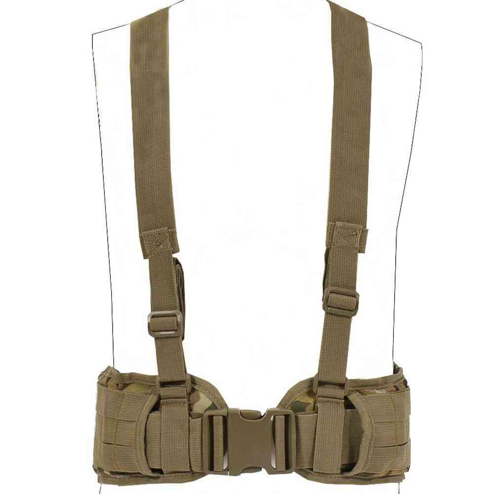 Nylon Military Convenient Combat Girdle H-shaped Padded Tactical Vest