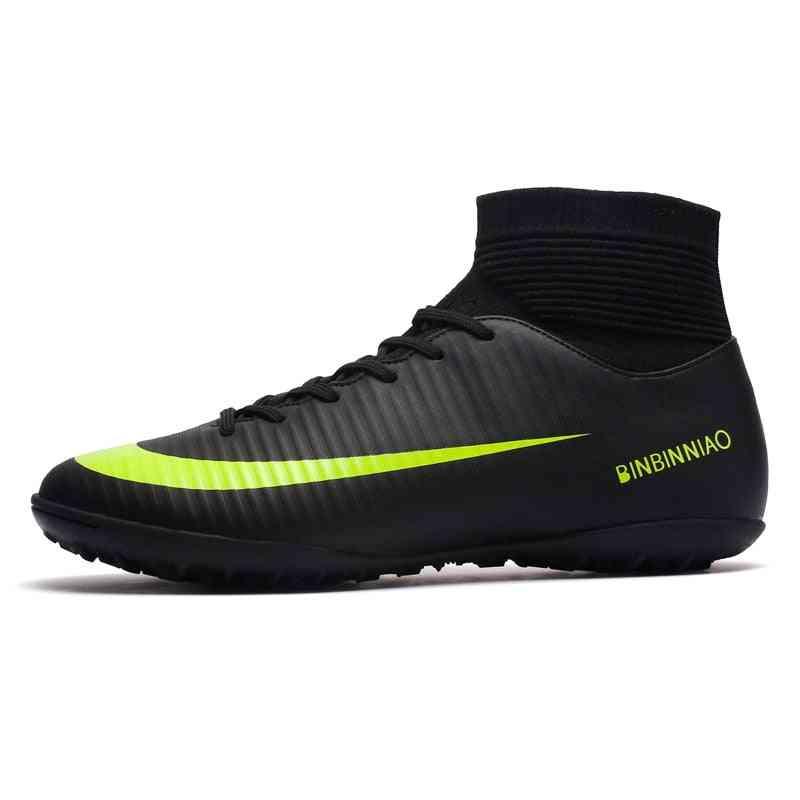 Men Turf Soccer Training, High Ankle Sport Shoes