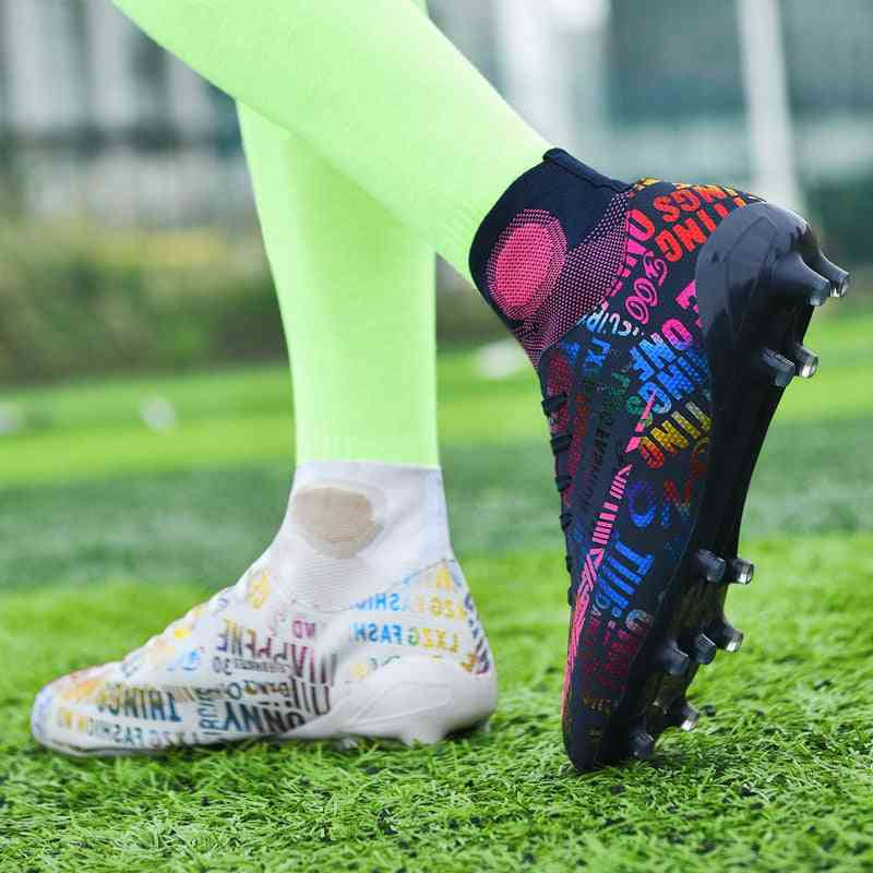 Breathable Outdoor High-top Football Boots