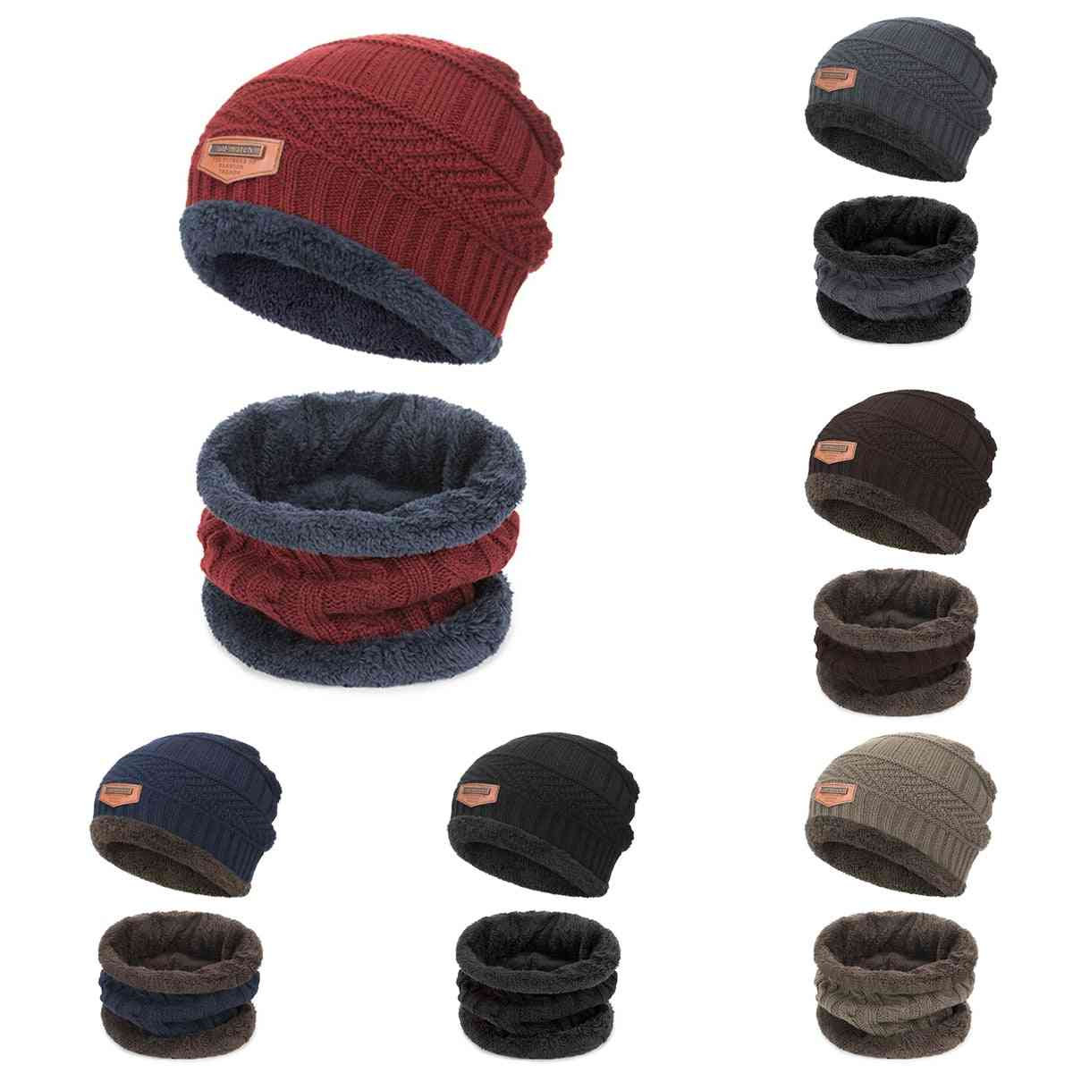 Winter Fashion Beanies Knitted Collar, Scarf, Hat For