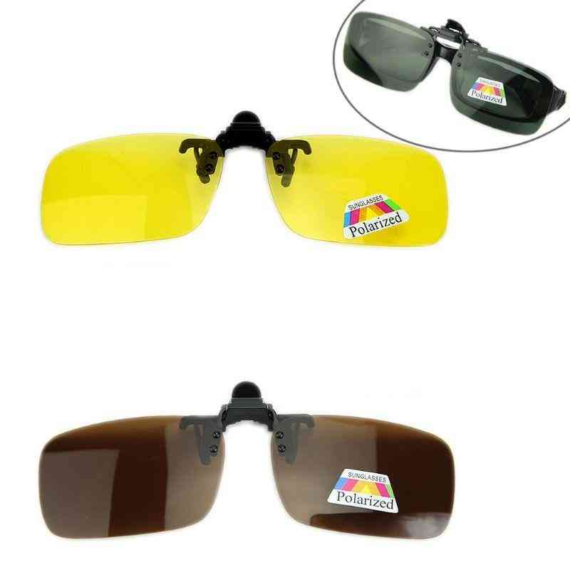 Day & Night Vision, Polarized Driving, Clip-on Flip-up, Lens Sunglasses