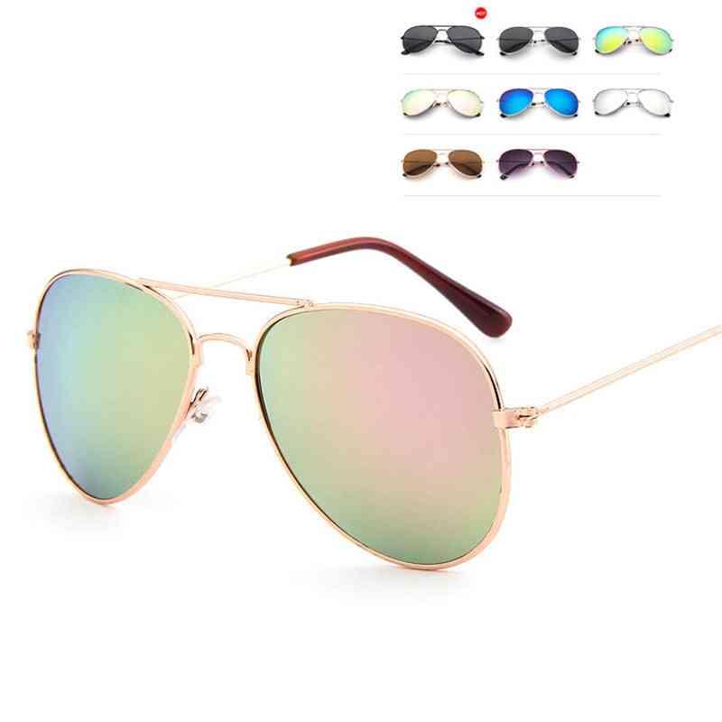 Classic Colorful Mirror Glasses Metal Frame Travel Eyeglasses