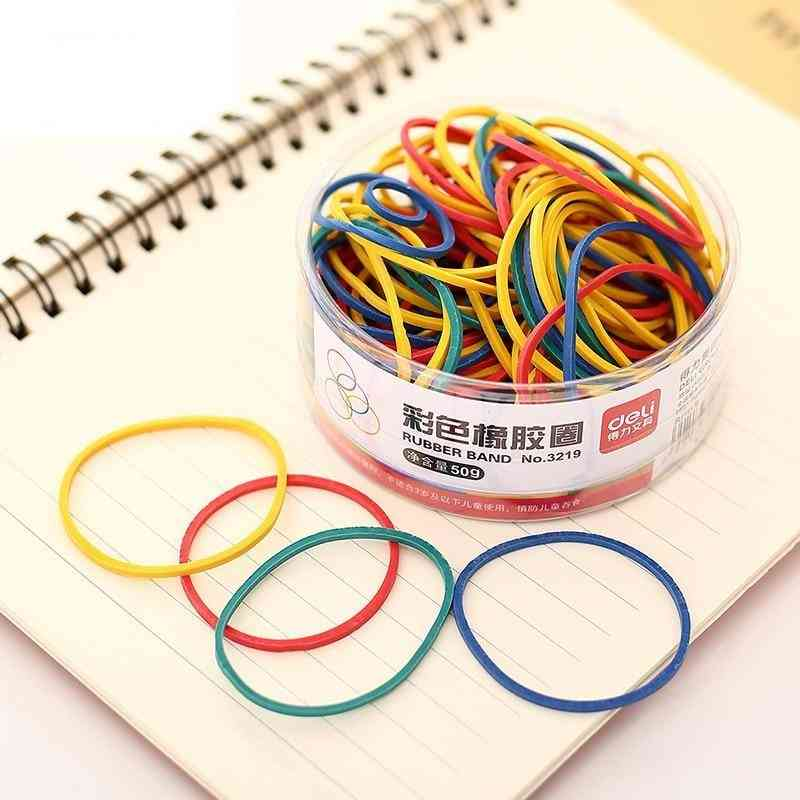 1 Pack 50g- Colored Round Circle, Strapping Rubber Band
