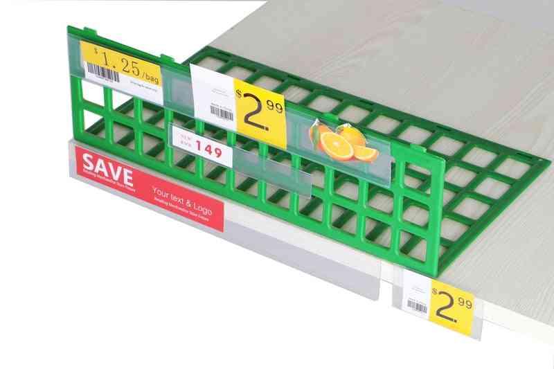 Self-adhesive Data Strip Label Holder, Name Card Sign, Display Frame Pop