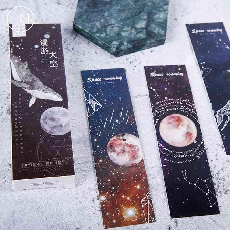 30 Pcs/box Dream Space Constellation Paper Bookmark