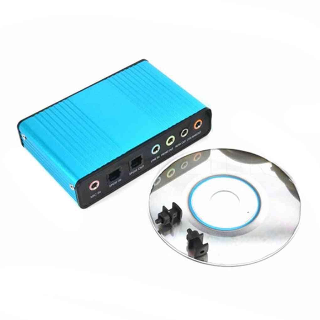 Usb 6 Channel 5.1 / 7.1 Surround External Sound Card Optical Adapter