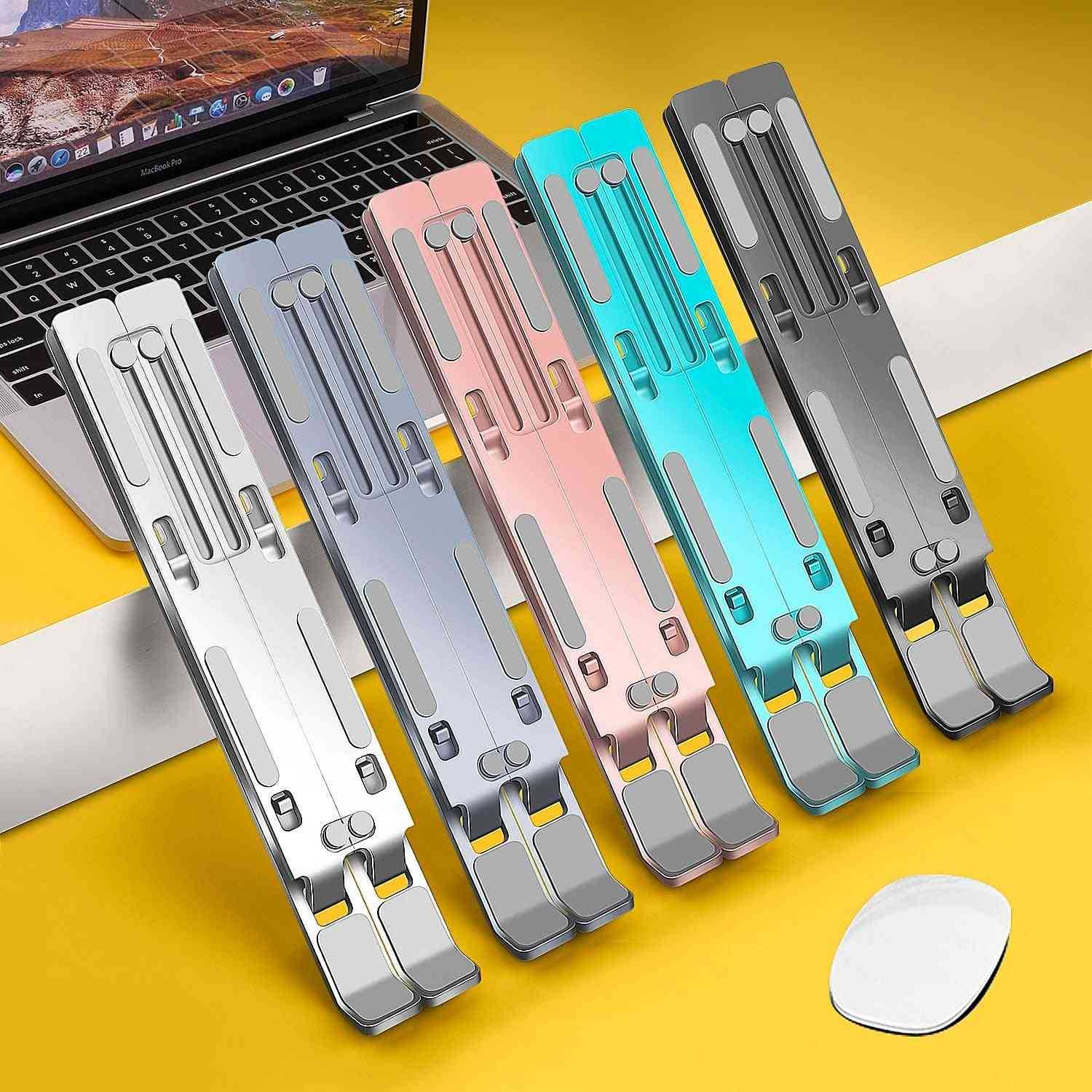 Foldable Aluminium Stand For Laptop And Tablet Holder