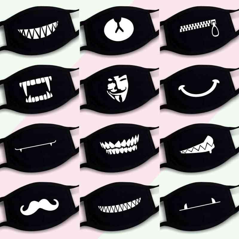 Dustproof Mouth Mask Pop Cotton Face Cartoon Reusable Fabric Anti Pollution Mask