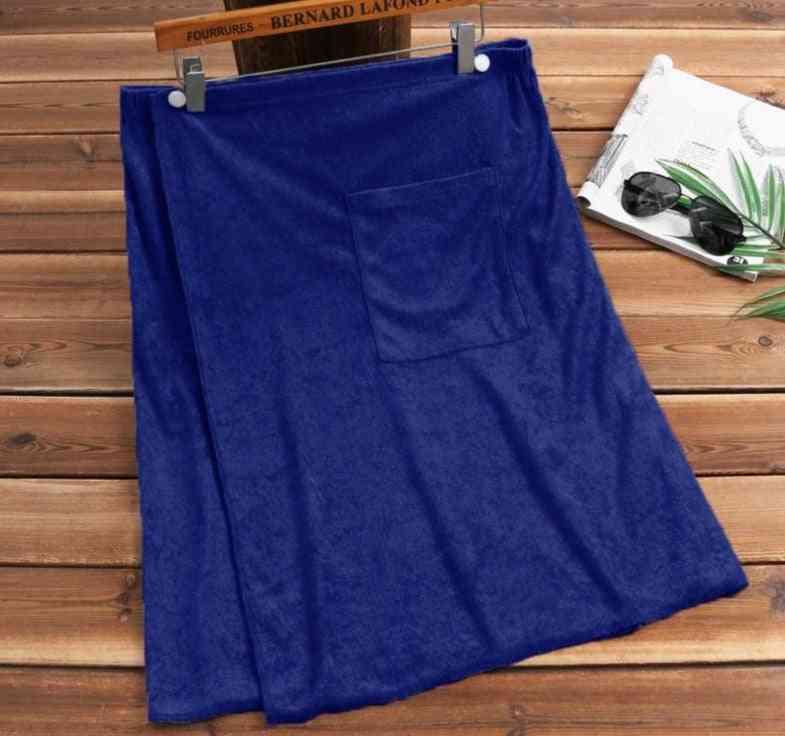 Men Soft Bathrobe Comfortable Bath Skirts / Towel Robes