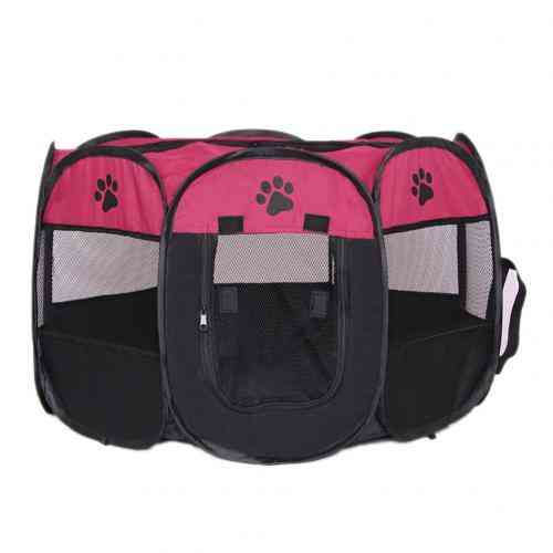 Cloth Waterproof Scratch-resistant Kennels Fences Tent Houses For Dogs, Foldable, Indoor Puppy Cats, Pet Cage, Octagon