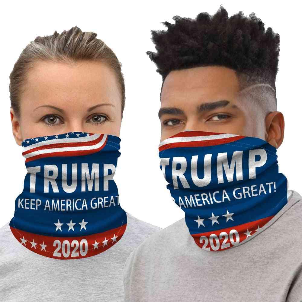 Trump Printed Face Mask Half Sun Dust Protection 3d Tube Mask Seamless Bandana
