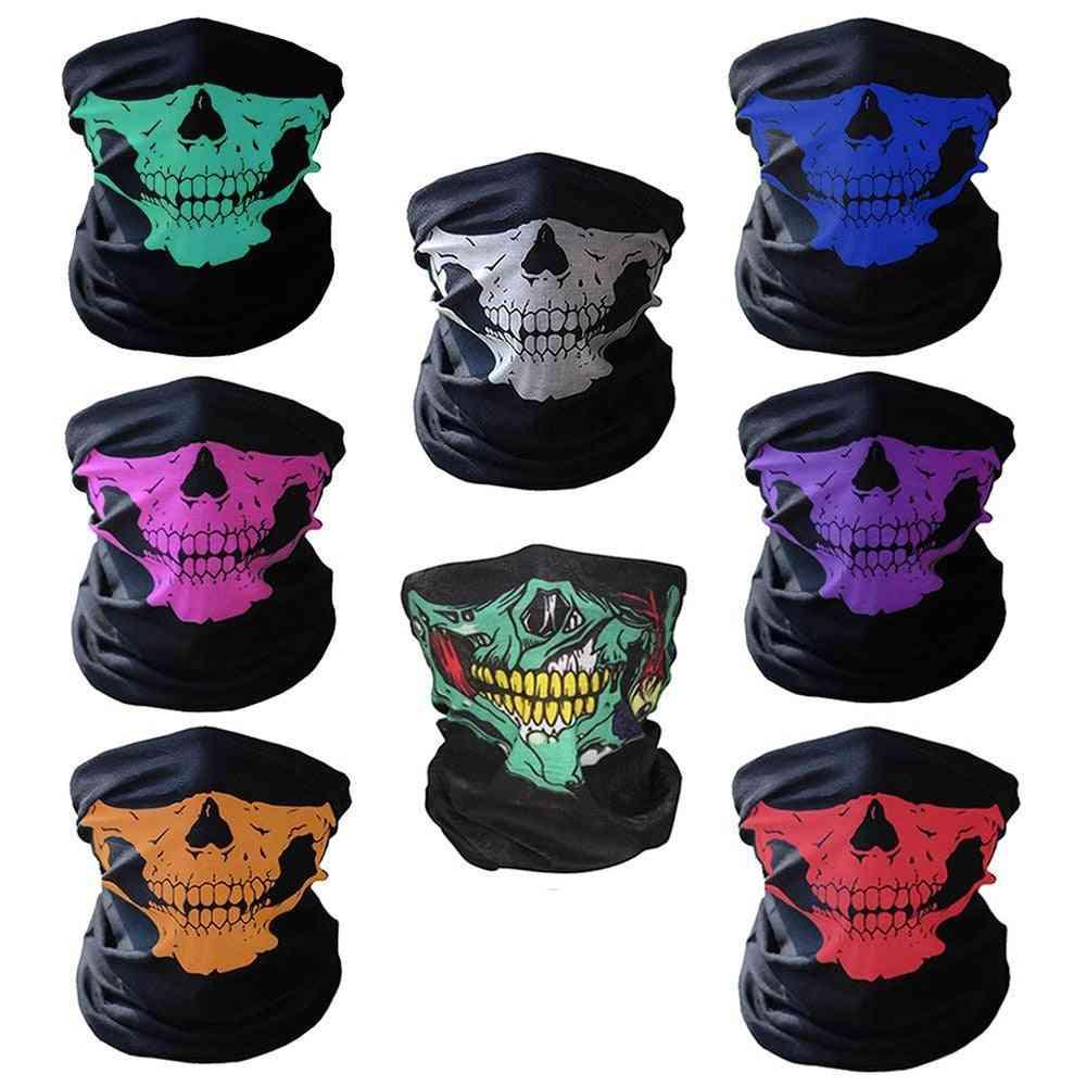 Men Scarf Halloween Ride Bandana Women Head Scarf Ski Skull Half Face Mask